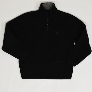 Nautica  Regular M Black   1/4 Zip Sweater Polyest